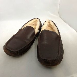 Ugh ascot leather slippers